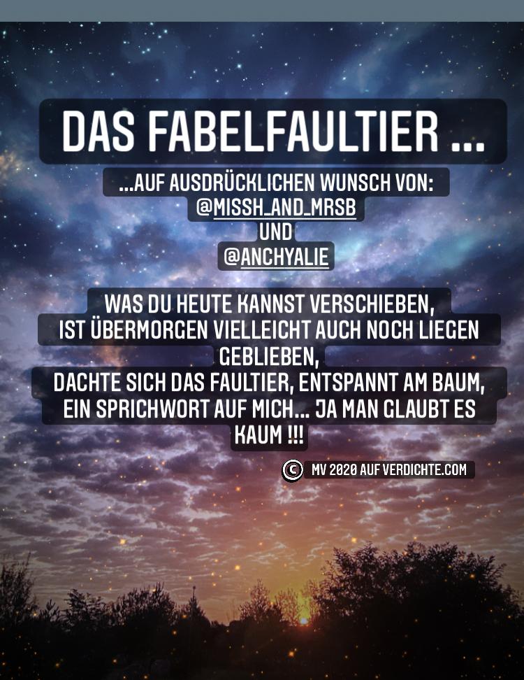 Fabel Faultier