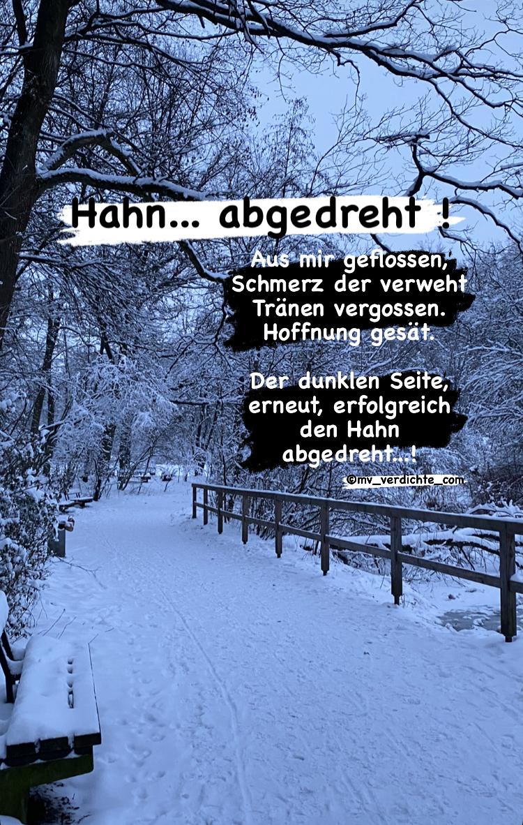 Hahn abgedreht …!