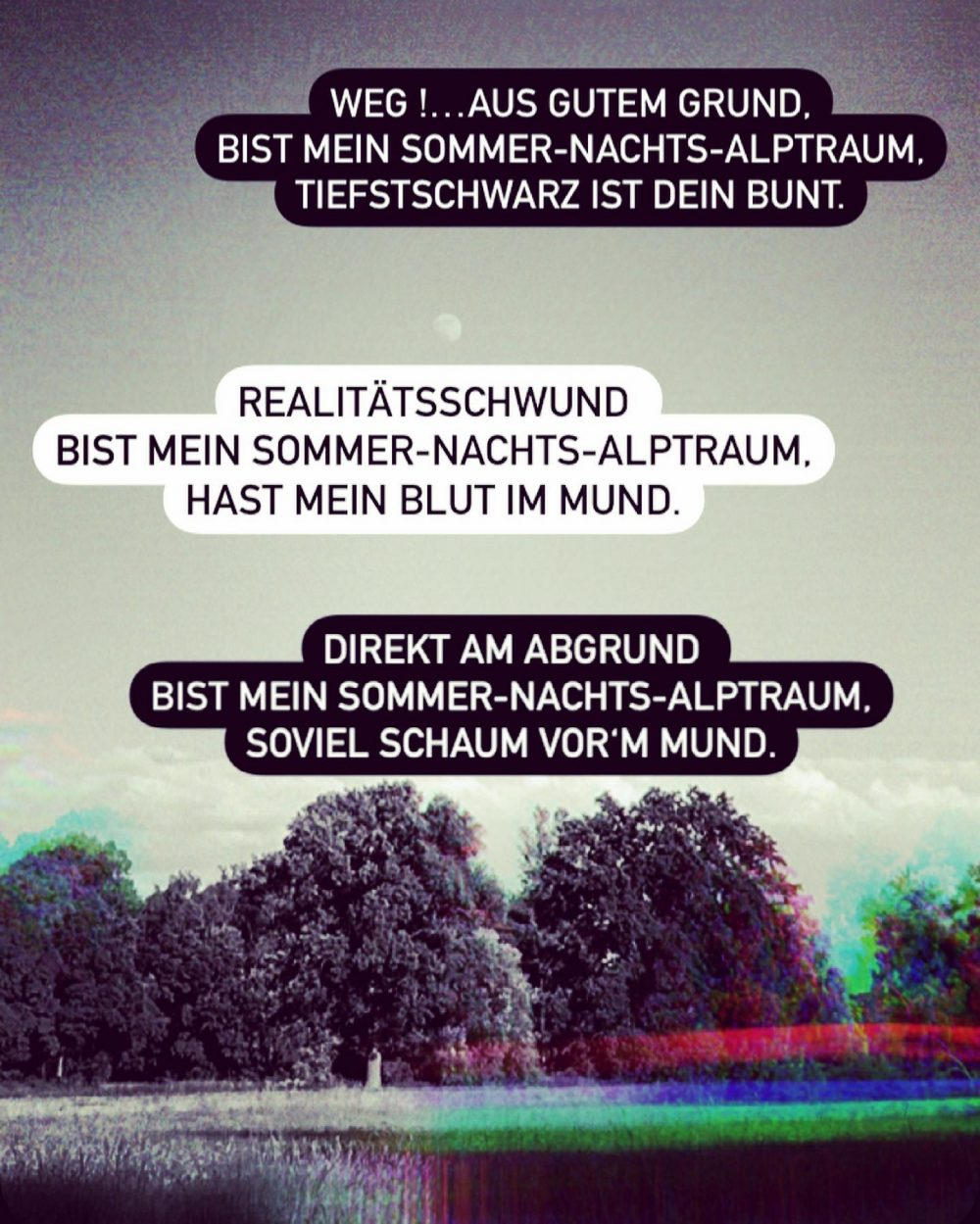 Sommernachtsalptraum #freitagstrigger @instagram