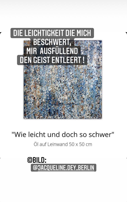 Schwere Leichtigkeit Inspired by @jacqueline.dey_Berlin at Instagram